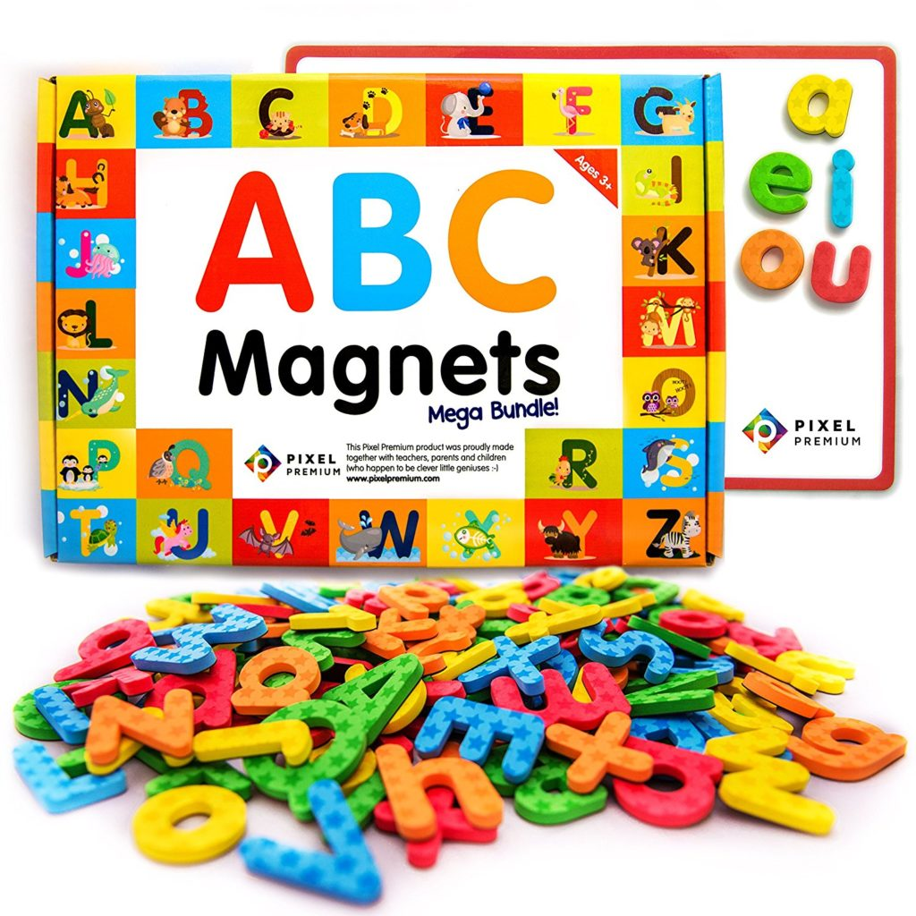 Pixel Premium ABC Magnets For Kids Gift Set